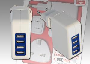 ALIMENTATORE 4 PORTE USB DA 5V - 20WATT
