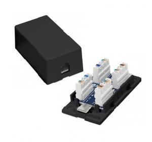 BOX DI GIUNZIONE IN PLASTICA PER UTP CAT.5 NERO (NW-PBJU5-BK)