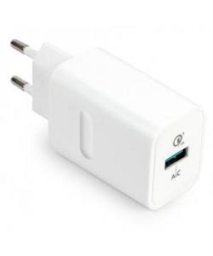 CARICATORE 1 USB 3.0 QUICK CHARGE 18W BIANCO (CC-118QCWH)