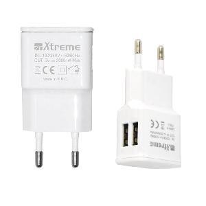 CARICATORE 2 USB 5V BIANCO (40145)