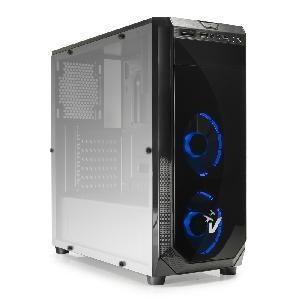 CASE GAMING BLACKDOOM GS-0385BL NO ALIMENTATORE BLU