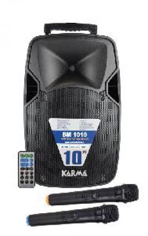 CASSA AUDIO DIFFUSORE AMPLIFICATO 100W CON 2 RADIOMICROFONI BM 1010