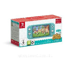 CONSOLE SWITCH LITE TURCHESE + ANIMAL CROSSING NEW HORIZON PACK + NSO. 3 MESI (LIMITED)