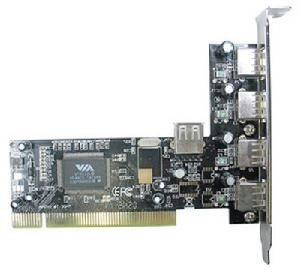 CONTROLLER PCI LINDY 4 1P USB 2.0 (51063)