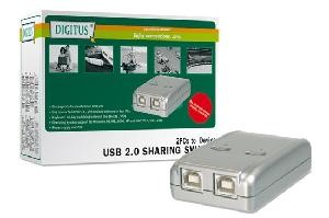 DATA SWITCH ELETTRONICO 2 PC CON UNA PERIF. USB 2.0 (DA70135)