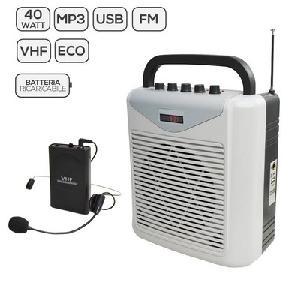 DIFFUSORE AMPLIFICATO CON RADIOMICROFONO BM 861MP3