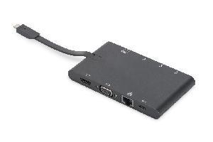 DOCKING STATION 9 PORTE CON CONNETTORE USB TIPO C (DA70865)