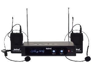 DOPPIO RADIOMICROFONO AD ARCHETTO VHF SET 6252LAV-A (210,35 - 216,45 Mhz)