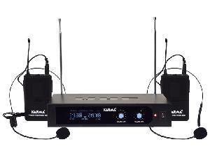 DOPPIO RADIOMICROFONO AD ARCHETTO VHF SET 6252LAV-B