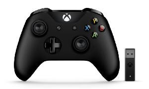 GAMEPAD JOYPAD WIRELESS NERO PER XBOX ONE + ADATTATORE WIRELESS PER PC WINDOWS