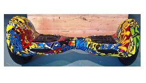 HOVERBOARD BIG SKULL MONOPATTINO ELETTRICO 2 RUOTE 10 BLU CAMOUFLAGE