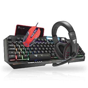 KIT TASTIERA + MOUSE + CUFFIE TM-GAMINGSET NERO GAMING