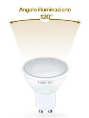LAMPADA LED GU10 E27 6W CALDA 3000K (E2621C)