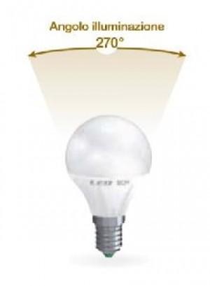 LAMPADA LED SFERA E14 6W FREDDA 6500K (E2577F)