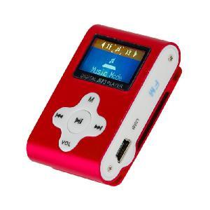 LETTORE MP3 CON TF CARD 8 GB E FM RADIO ROSSO (27611R)