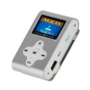LETTORE MP3 CON TF CARD 8 GB E FM RADIO SILVER (27611S)