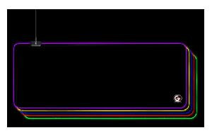 MOUSE PAD MOUSE PAD MP-GAMEPRO-XL EFFETTI LED