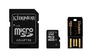 MULTI KIT 16 GB TRANS FLASH CLASS 4 (MBLY4G216GB)