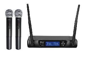 RADIOMICROFONO DOPPIO PALMARE VHF (SET 6092A) 175.50197.15 MHZ