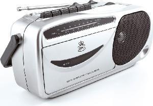 RADIO STEREO PORTATILE 9401 ANALOGICA FM SILVER