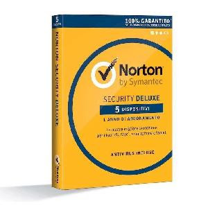 SOFTWARE NORTON SECURITY DELUXE 2019 - 5 DISPOSITIVI - 1 ANNO