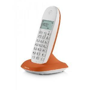 TELEFONO CORDLESS C1001LO (92063) ARANCIONE