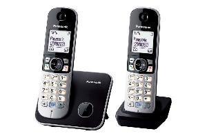 TELEFONO CORDLESS DUO KX-TG6812JTB NERO