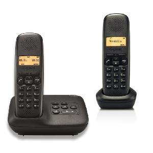TELEFONO CORDLESS GIGASET A150A DUO NERO (L36852-H2722-K101)