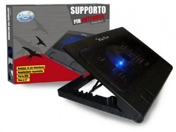 BASE PER NOTEBOOK CON VENTOLA E PORTE USB (SN-01)