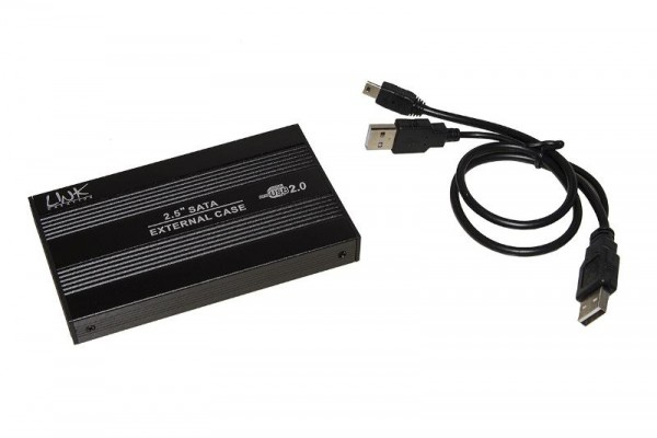 BOX ESTERNO PER HD 2,5 SATA USB 2.0 (LKBOX252) NERO