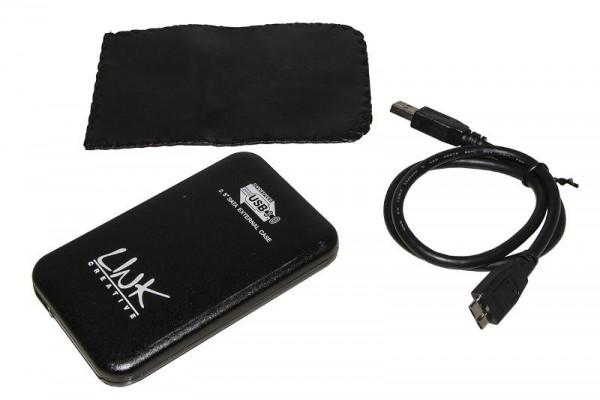 BOX ESTERNO PER HD 2,5 SATA USB 3.0 (LKBOX253) NERO