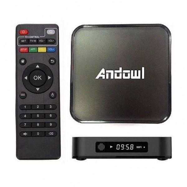 BOX SMART TV MEDIAPLAYER ANDOWL Q-M6 4GB RAM 32GB ROM 4K