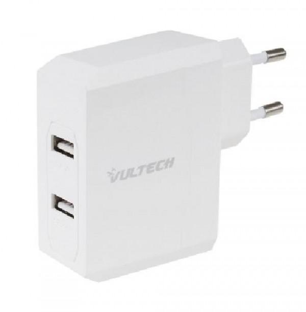 CARICATORE 2 USB 3,4A BIANCO (CC-034B)