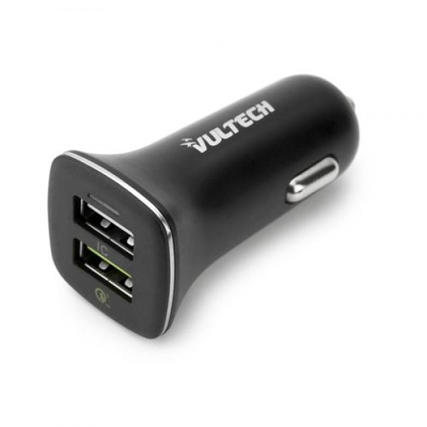 CARICATORE AUTO 2 USB (CA-QC3) QUICK CHARGE