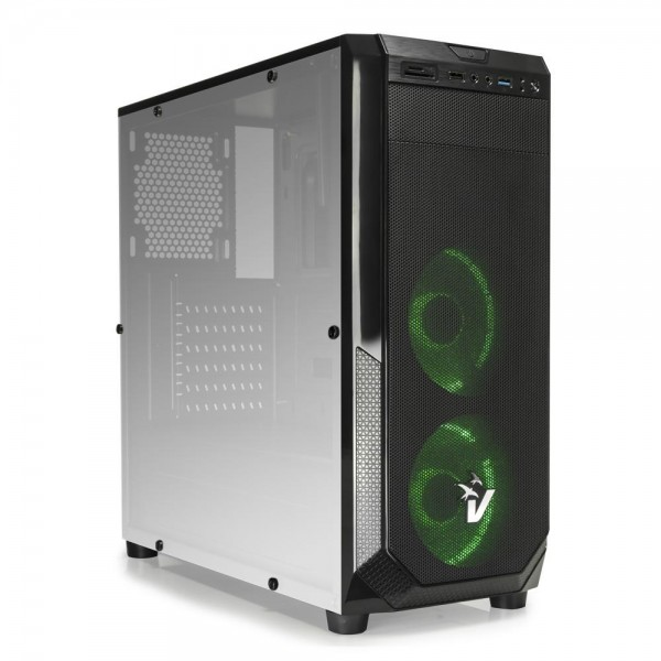 CASE GAMING BLACKDOOM GS-0485GR - VENTOLE VERDI - NO ALIMENTATORE