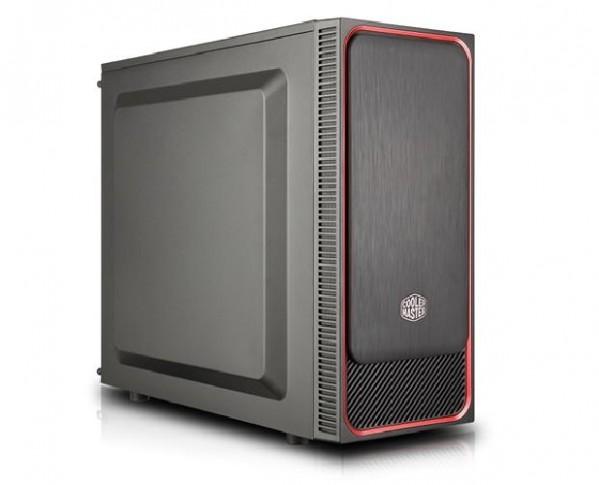 CASE MASTERBOX E500L RED (MCB-E500L-KN5N-S01) NO ALIMENTATORE