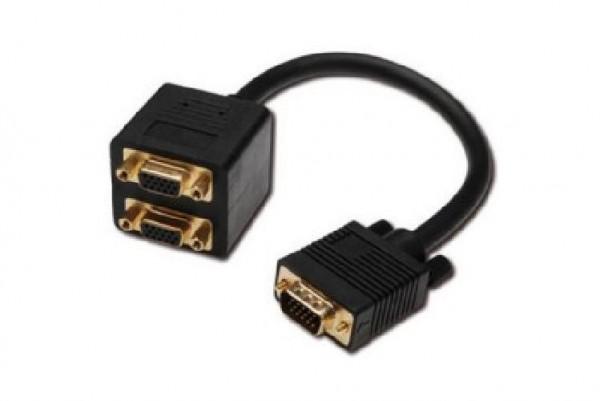 CAVETTO SPLITTER VGA Y HD15-2XHD15 CM 20 (AK-513001)