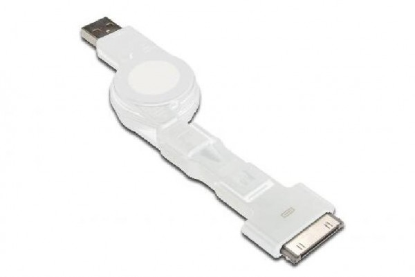 CAVO DOCK 3 IN 1 RETRAIBILE USB 2.0 + CONNETTORI 30PIN MICRO USB E MINI USB