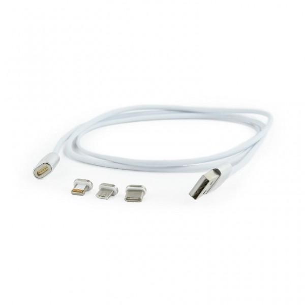 CAVO USB 3 IN 1 MAGNETICO (CCUSB2-AMLM31-1M)