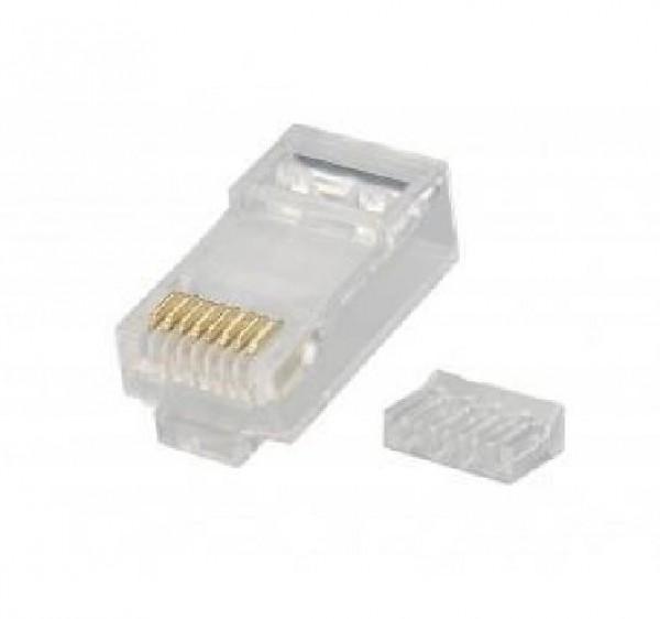 CONNETTORE PLUG RETE RJ45 8P CAT.6 UTP (CONF. 50PZ) (CV-LAN-027)