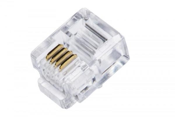 COONETTORE PLUG TELEFONICO RJ11 6P4C (CONF.100PZ) (LKPL64)
