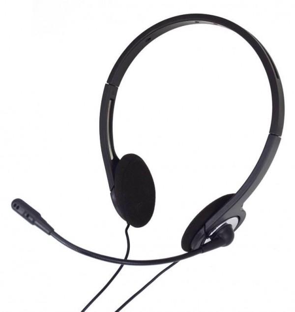 CUFFIA CON MICROFONO PC 001 NERO