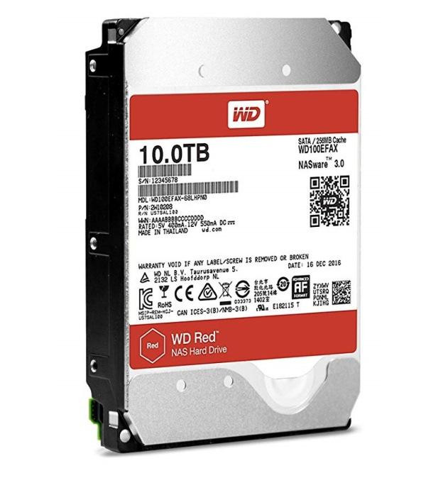 HARD DISK RED 10 TB SATA 3 3.5 NASWARE (WD100EFAX)