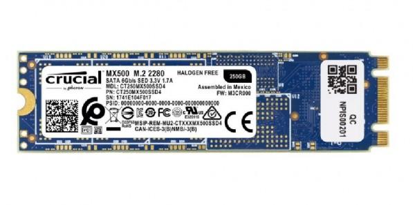 HARD DISK SSD 250GB MX500 M.2 (CT250MX500SSD4)