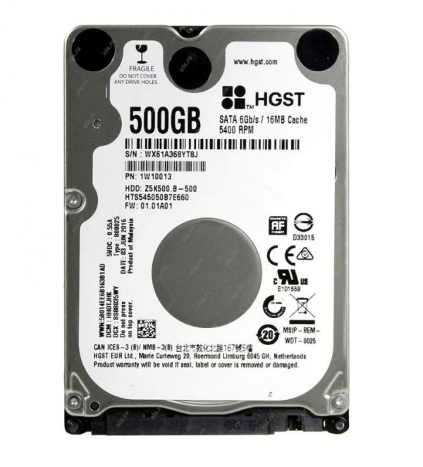 HARD DISK TRAVELSTAR 500 GB 2,5 SATA 3 Z5K500.B HTS545050B7E660 (1W10013)