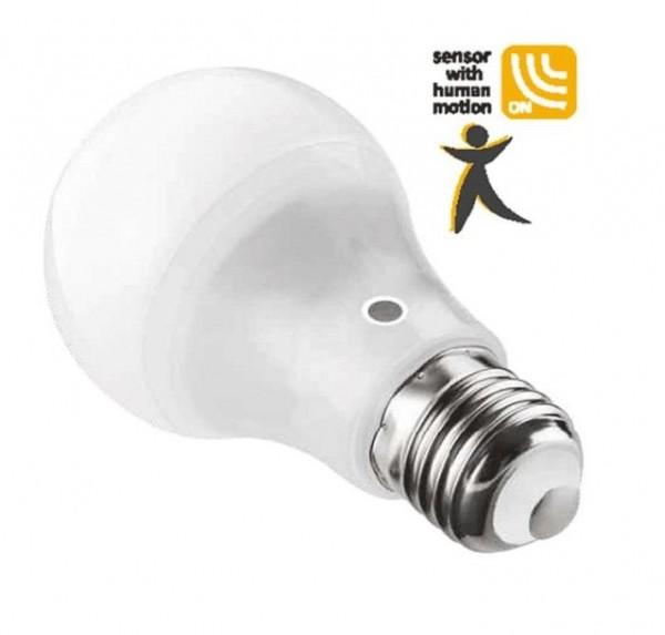 LAMPADA LED GOCCIA E27 10W LUCE FREDDA 6000K SENSORE MOVIMENTO (DYA-242)