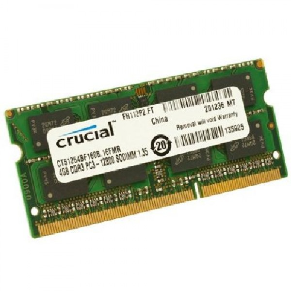MEMORIA SO-DDR3 4 GB PC1600 (1X4) (CT51264BF160BJ)