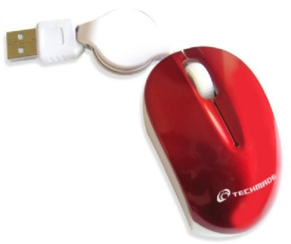 MOUSE TM-XJ18-RED USB ROSSO
