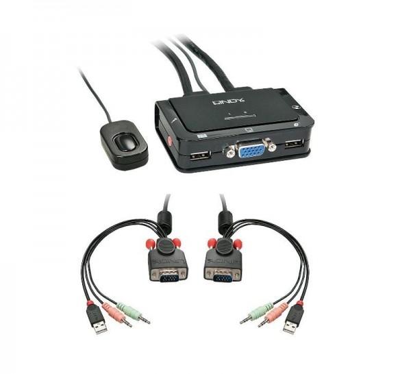 SWITCH KVM 2 PC CON PORTE 1 VGA E 2 USB (42342)