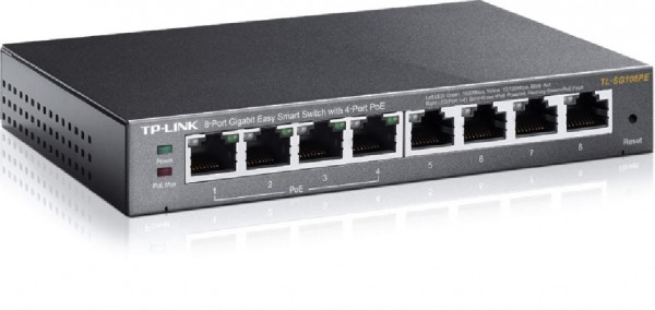 SWITCH RETE 8 PORTE 101001000 TL-SG108PE POE